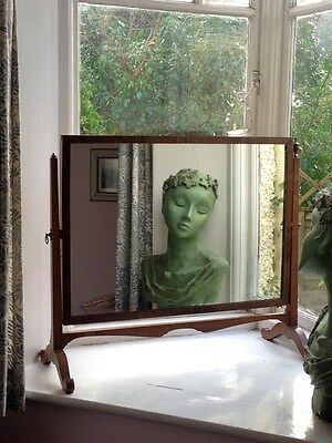 Fab Large Wooden Antique Apparently Georgian Dressing Table Mirror/toilet Mirror
