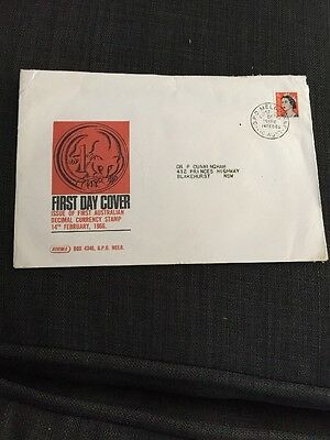 1966 First Australian Decimal Currency Stamp Sigma Cover Australian  FDC