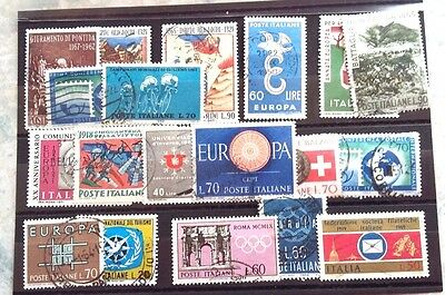Italian Stamps  --19---Misc Selection   Used---Hinged