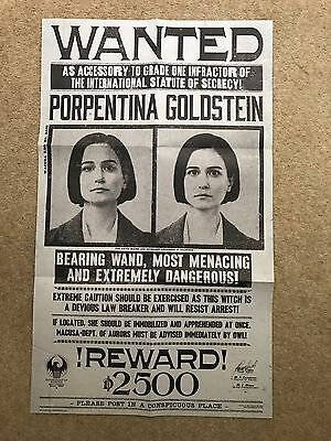 Fantastic Beasts Film Wanted Poster Great For Every Fan Of The Film