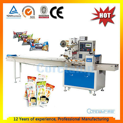 Horizontal flow wrapper,flow pack,flow wrap packing machine