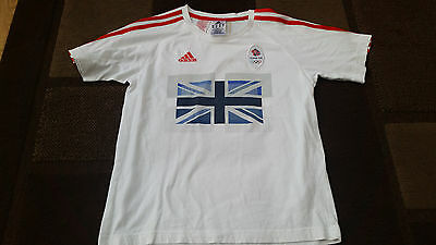 Team GB Olympic 2012 T'Shirt - Adidas - Age 11/12 - Good Condition