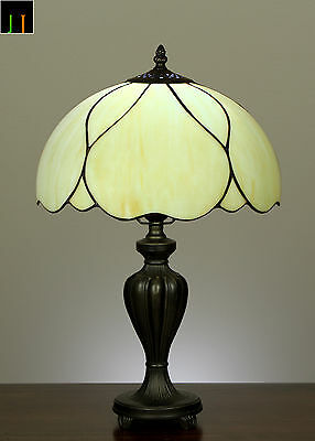 """12"""" Tiffany Modem Stained Glass Bedside / Side/ Table lamp Light Leadlight"""