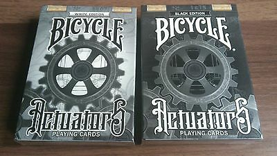 Bicycle Actuators Limited Edition (Black & White) Playing Cards New Sealed