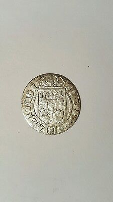 RARE MEDIEVAL SILVER HAMMERED COIN- GREAT DETAILS - Date 1624