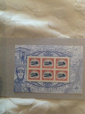 USA Inverted Jenny Miniature Sheet Showing 6 $2 Stamps With Famous Invert Error