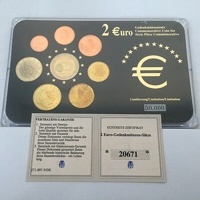 Luxembourg 8 Euro Coin Set - Comes In Display Case With COA