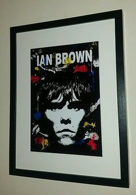 Ian Brown Framed Art Print The Stone Roses Manchester Music