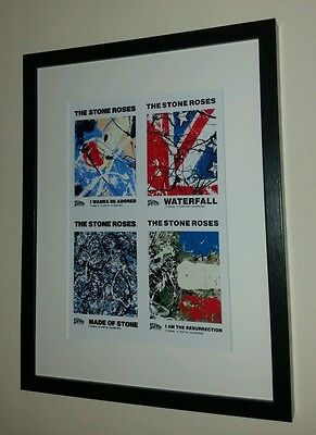 The Stone Roses Framed Singles Print, Manchester Ian Brown