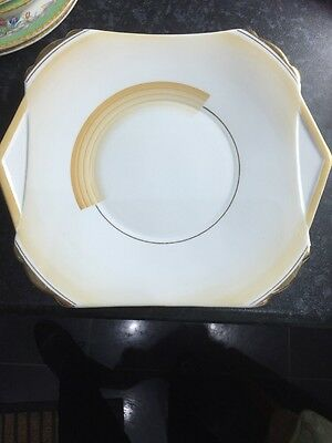 Shelley Patches & Shades Handled Cake Plate Art Deco