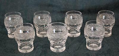 "7 Antique 19th Century 2"" or 5cm Small Cut Glass Tumblers / Liqueur / Shot"