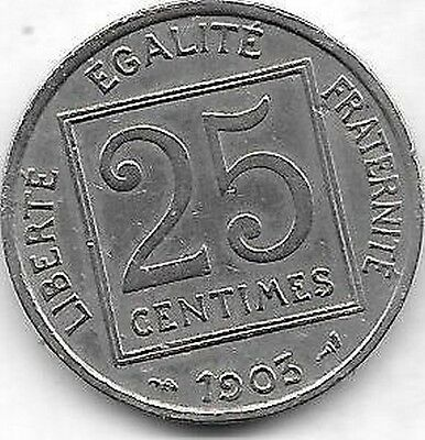 25 Centimes 1903 (Pmc)