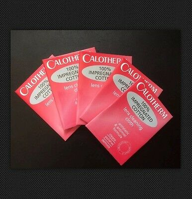Five CALOTHERM Impregnated COTTON Lens Cleaning Cloth 6x3 Inch x5