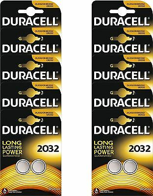 20 x Duracell CR2032 3V Lithium Button Cell Battery 2032 DL2032