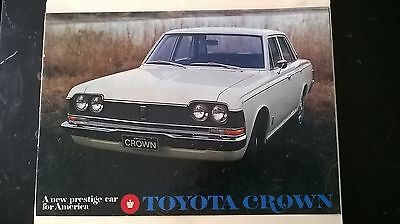1969 ? Toyota Crown Sales Brochure From Maine