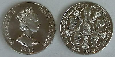 Cook Inseln / Cook Islands 1 Dollar 1986 p31 unz.