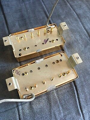Gibson 490R 498T Humbucker Pickup Set Gold Covers
