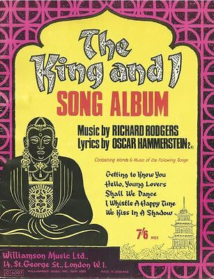 The King And I Song Album - ROGERS & HAMMERSTEIN - Sheet Music Book