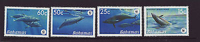 Bahamas 2007 MNH - Whales - set of 4 stamps
