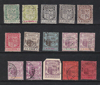 Mauritius Early selection (15 stamps).