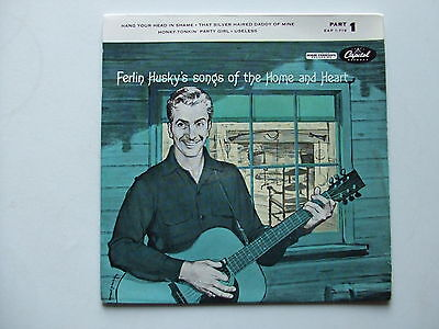 """Ferlin Husky Songs Of The Home And Heart 7"""" Vinyl Ep Capitol Eap 1-718 Ex+ Ex"""