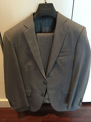 New Hugo Boss Suit Selection Gray Drago Woven In Italy Awesome Suit $1000 Suit