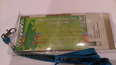 2007 World Cup Rugby Final Ticket Stub * England V South Africa * V G Condition