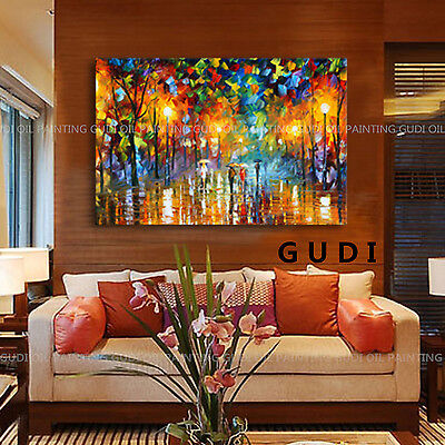 GUDI-Modern Large Hand-painted Art Oil Painting Abstract Wall Decor Canvas