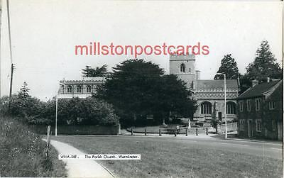 Real Photographic Postcard The Parish Church, Warminster, Wiltshire