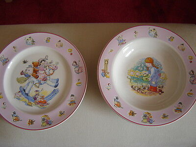Nursery Rhyme Collection By Aynsley Dish And Plate Set Excellent Condition