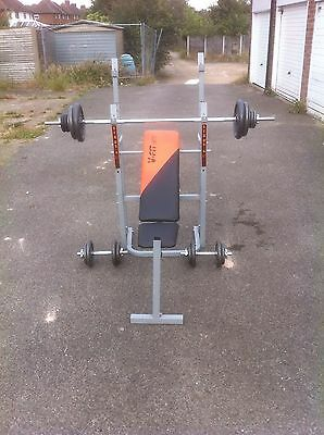 Weight Training Bench/weights