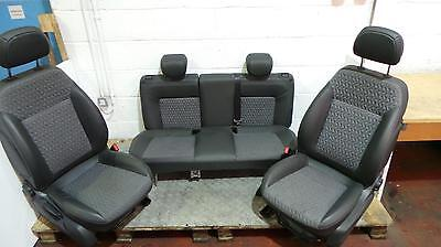 2011 Vauxhall Corsa D 5 Door Set Of Half Leather Front And Rear Seats
