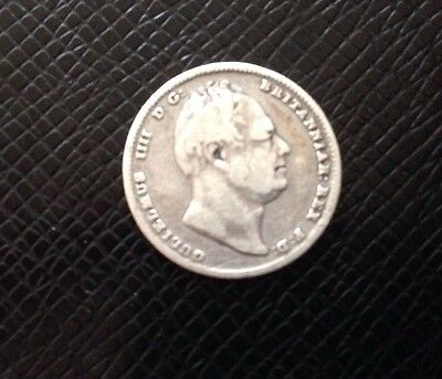 1836 William Iv Gb Silver Sixpence