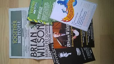Brian Wilson tour and gig flyers