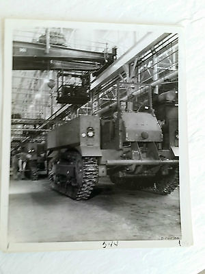 Wwii M5 High Speed Artillery Tractor  1944 Factory Production Line