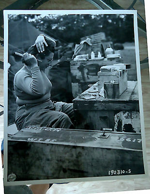 Wwii Us Army Nurse D-Day  June 15 1944 Original Signal Corp  8X10