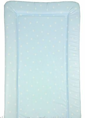 Baby Changing Mat - Baby Blue with White Polka Dots
