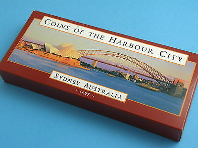 AUSTRALIA 1997 SILVER FROSTED $10 DOLLAR COIN SET - Coins of The Harbour City
