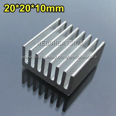 5pcs New Square Size 20x20x10mm Aluminum Heatsink Cooler