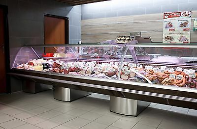 Serve Over Display Counter 5M Chiller Meat Dairy Fish Fridge Deli Counter