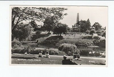 Postcard. Peoples Park, Dublin. Real Photo.