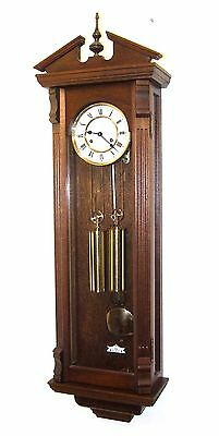 Grand Double Weighted Oak Traditional Vienna Style Wall Clock : Working