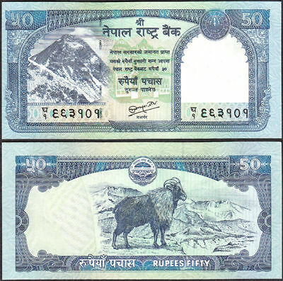 NEPAL 2010 OCT Rs 50 EVEREST BANKNOTE w/SIGNATR #19 UNC