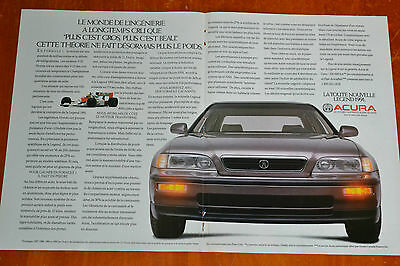 French 1991 Acura Legend Rare Canadian Ad - 1990S Luxury Japanese Car