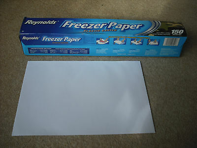 """REYNOLDS FREEZER PAPER FOR SILK PAINTING, NEW, 1m x 18"""" wide"""