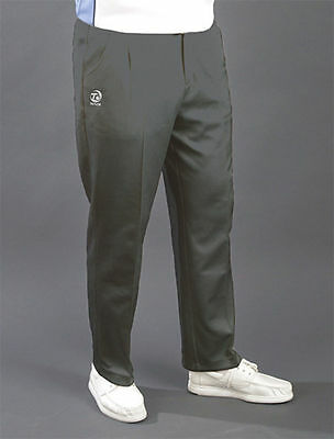 Mens Taylor Bowls Grey Permanent Crease Sports Bowling Trousers REDUCED SALE