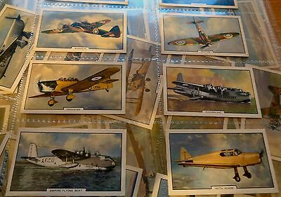 Aeroplanes Gallaher Cigarette Cards Full Set Of 48