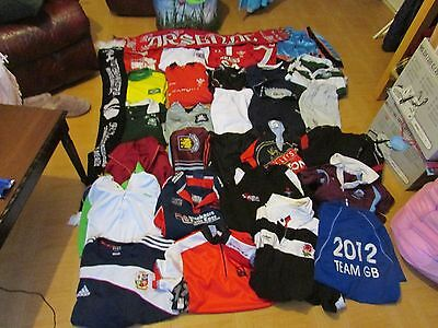 Massive Joblot Of Sports Clothing Football Rugby Cycling Cricket Etc Etc