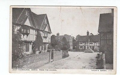 Postcard.East Hagbourne Berks from The School.