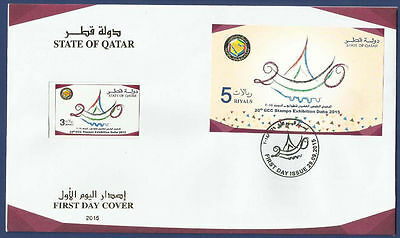 STATE OF QATAR 2015 MNH FDC 20th GCC STAMPS EXHIBITION DOHA